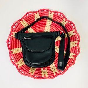 Black Vegan Leather Modern Fanny Pack